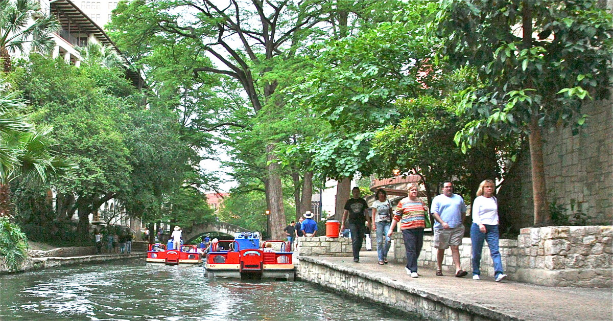 You can take a guided River Boat Tour or stroll along the banks of San Antonio's River Walk during your visit.