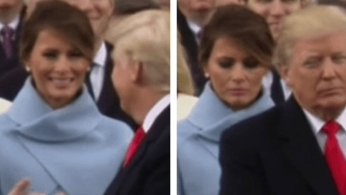 This article will examine the now-famous video of Melania Trump looking unhappy after smiling at her husband.