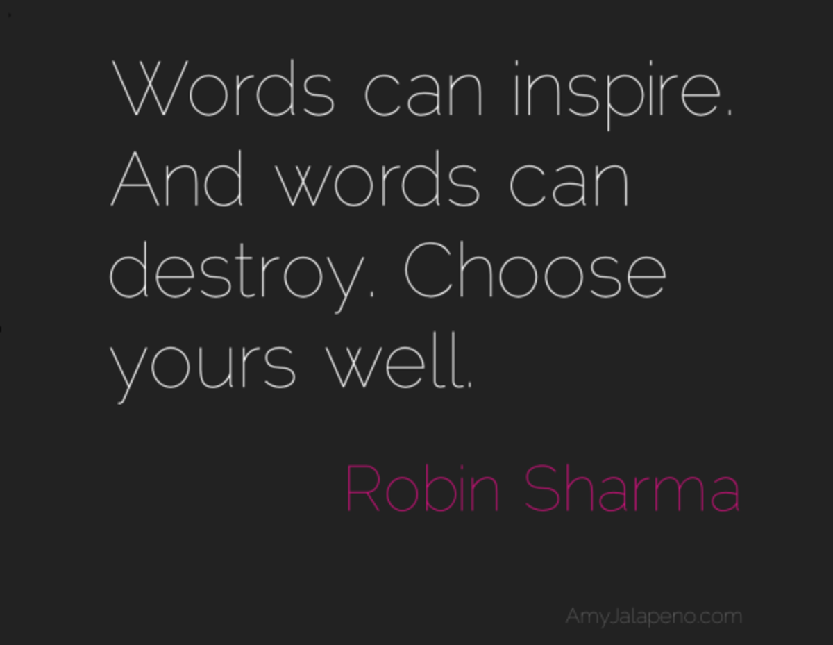 Words Have Power; Use Them Wisely