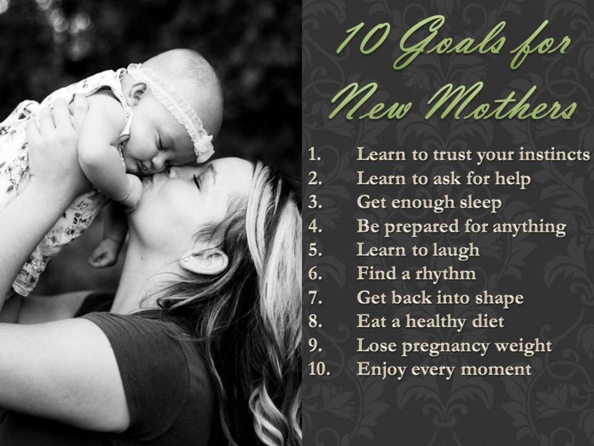 10 Goals for New Moms and How to Reach Those Goals