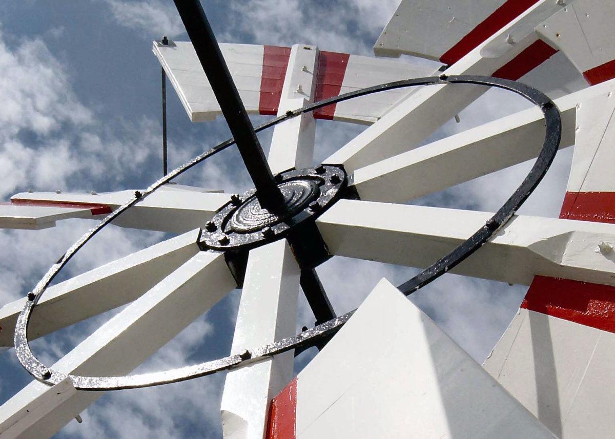 Victorian Engineering, Horsey Windmill, Norfolk Broads, England.