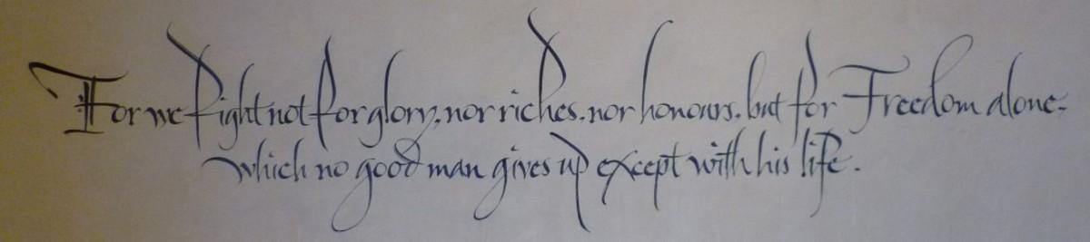 Declaration of Arbroath, April 6, 1320