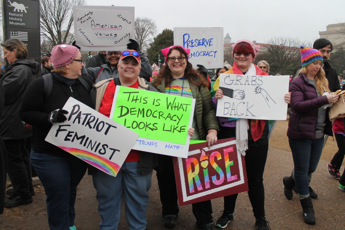 Women's March in Baltimore, Maryland, 2017.