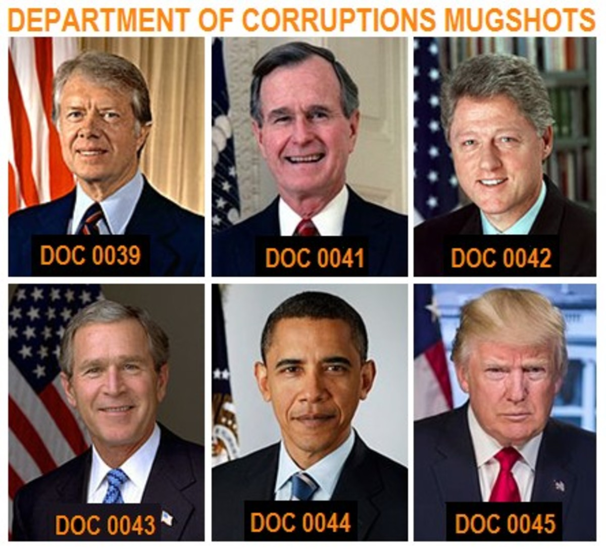 Department of Political Corruptions Most Wanted Made Men