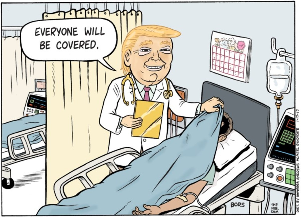 When Trump said everyone would be covered, he literally meant either dead or alive you will be covered.
