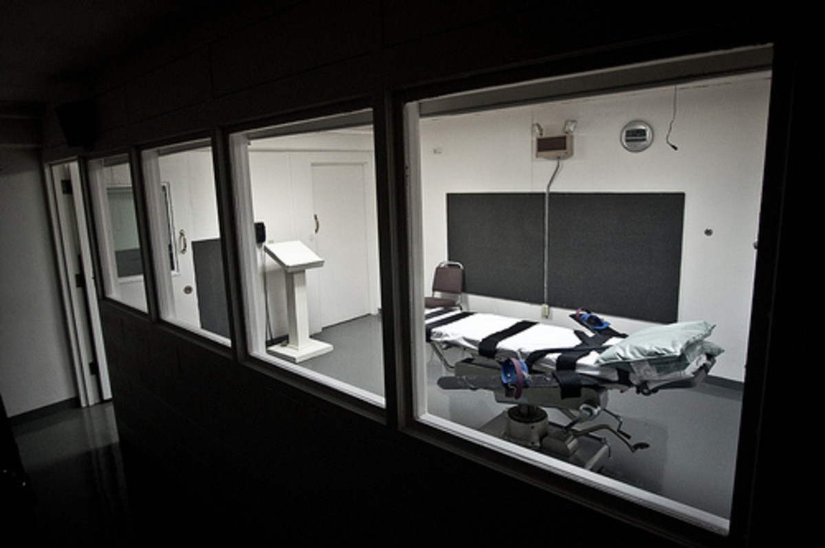 The execution room in Oklahoma.
