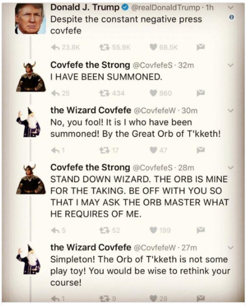#Covfefe: An Inside Joke or Code Word?  WTH Is Happening?