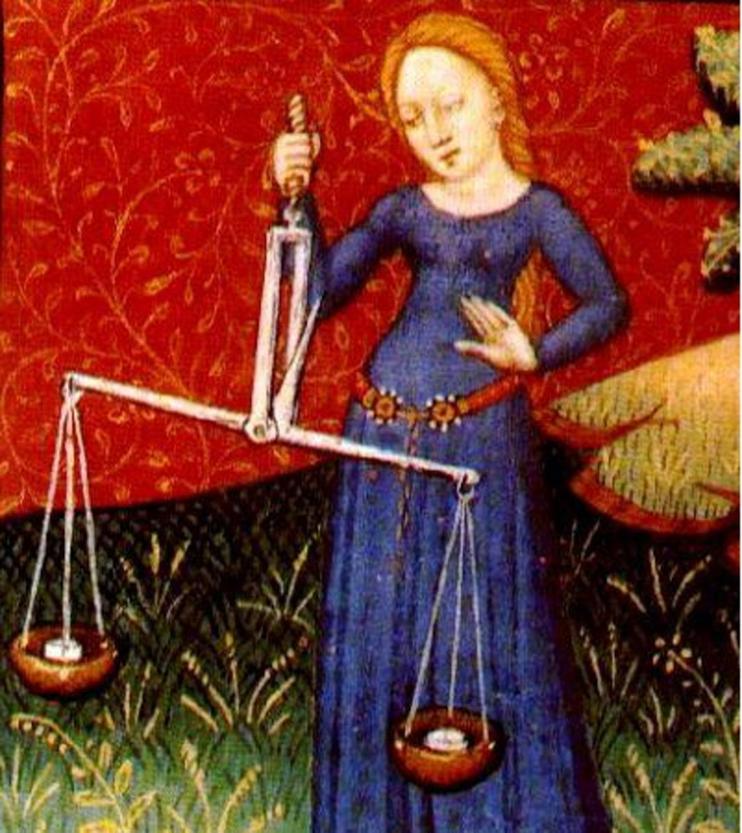 Libra is represented by the symbol of the scales.  Needless to say, life balance and justice are major concerns for a Libra.