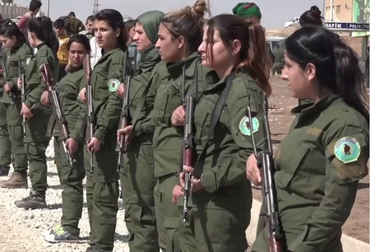 Police (Asayish) in Rojava.