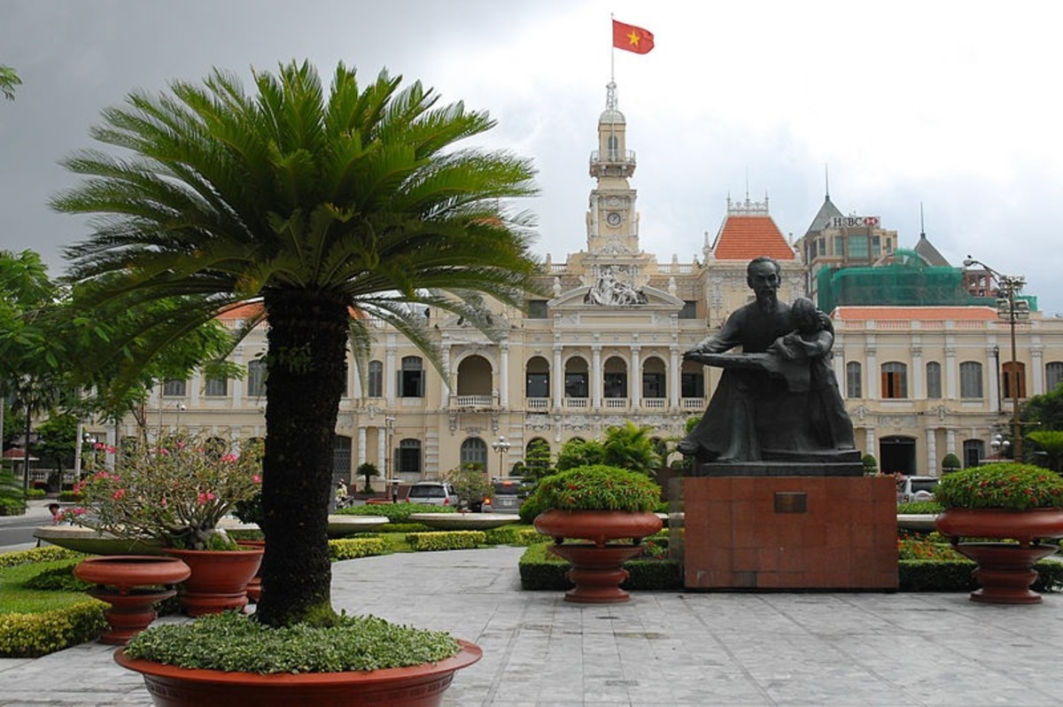 The People's Committee Building in Ho Chi Minh City, Vietnam.