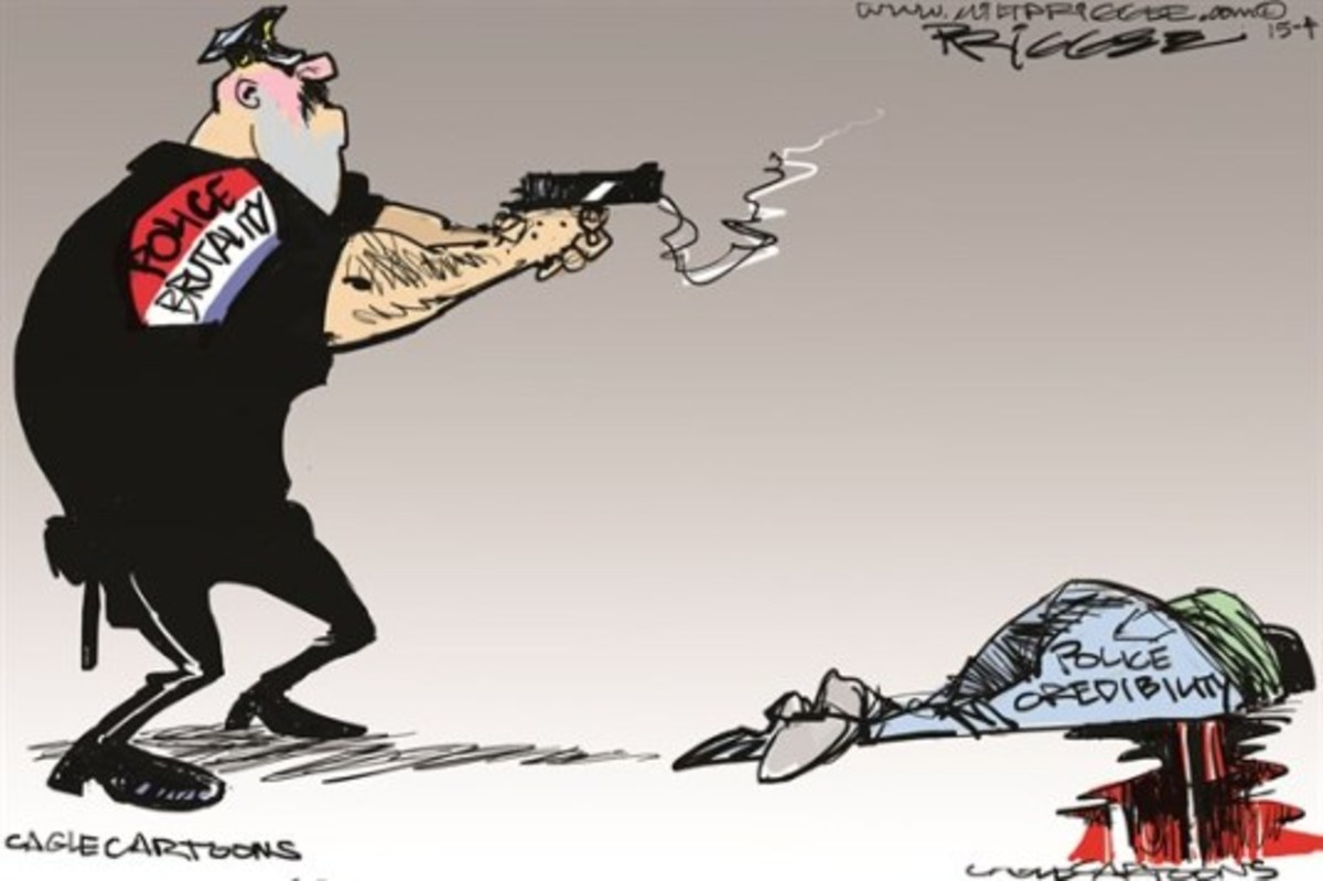 Cartoon about police reliability as it relates to brutality.