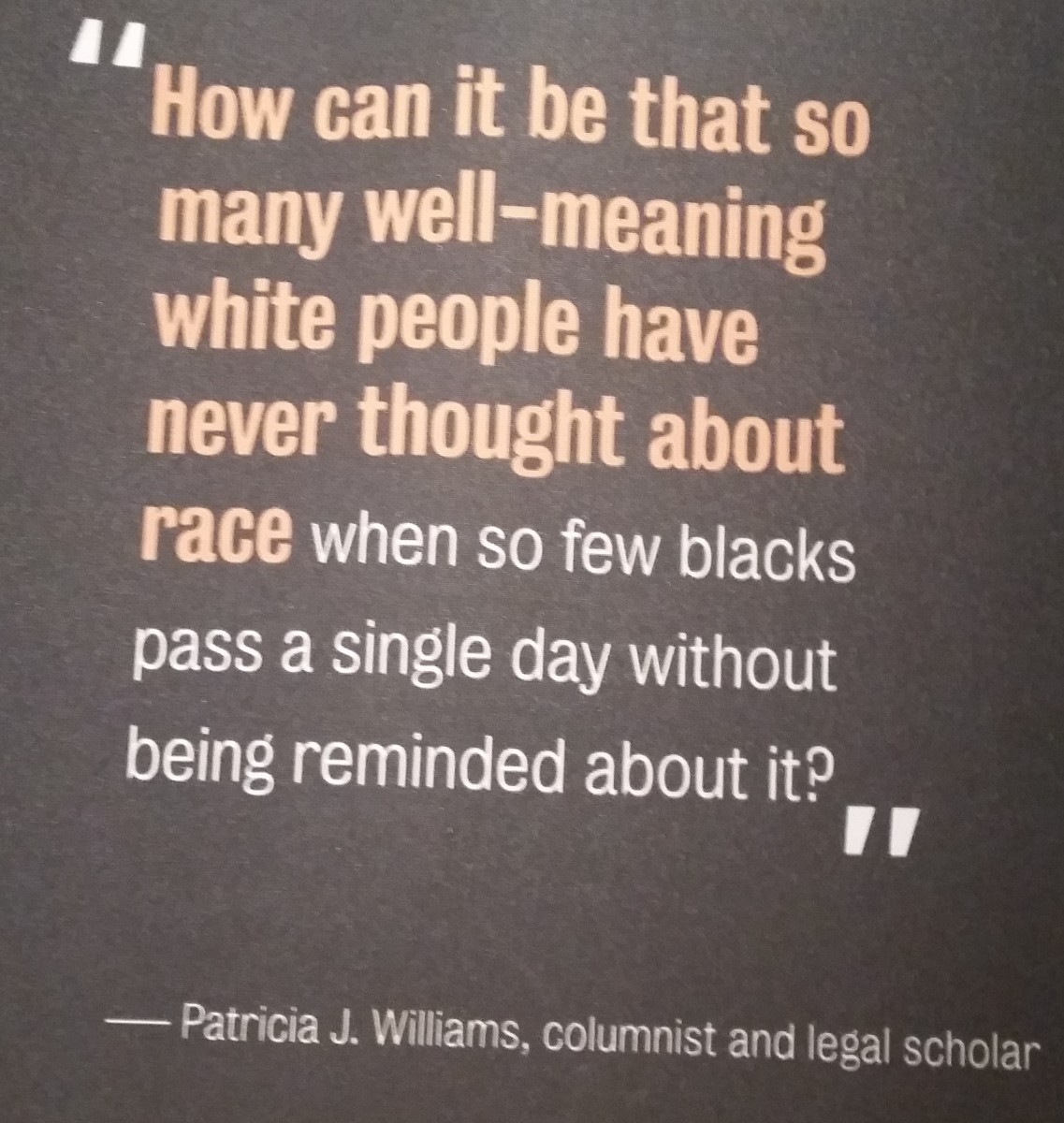 A Lesson on Race