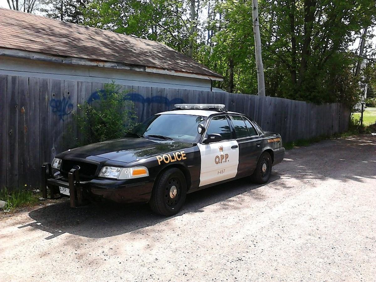 An Ontario Provincial Police cruiser