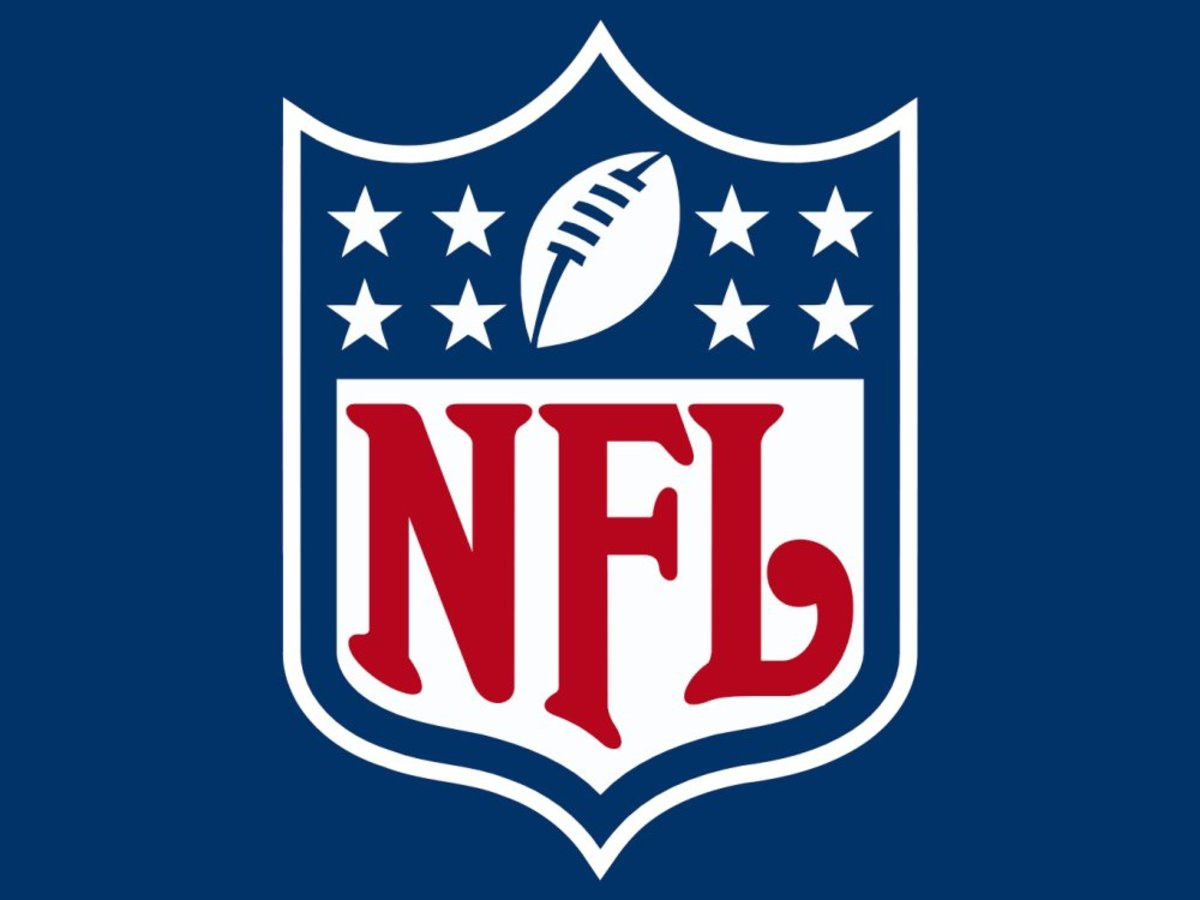 The NFL has long incorporated the U.S. flag in its logo.
