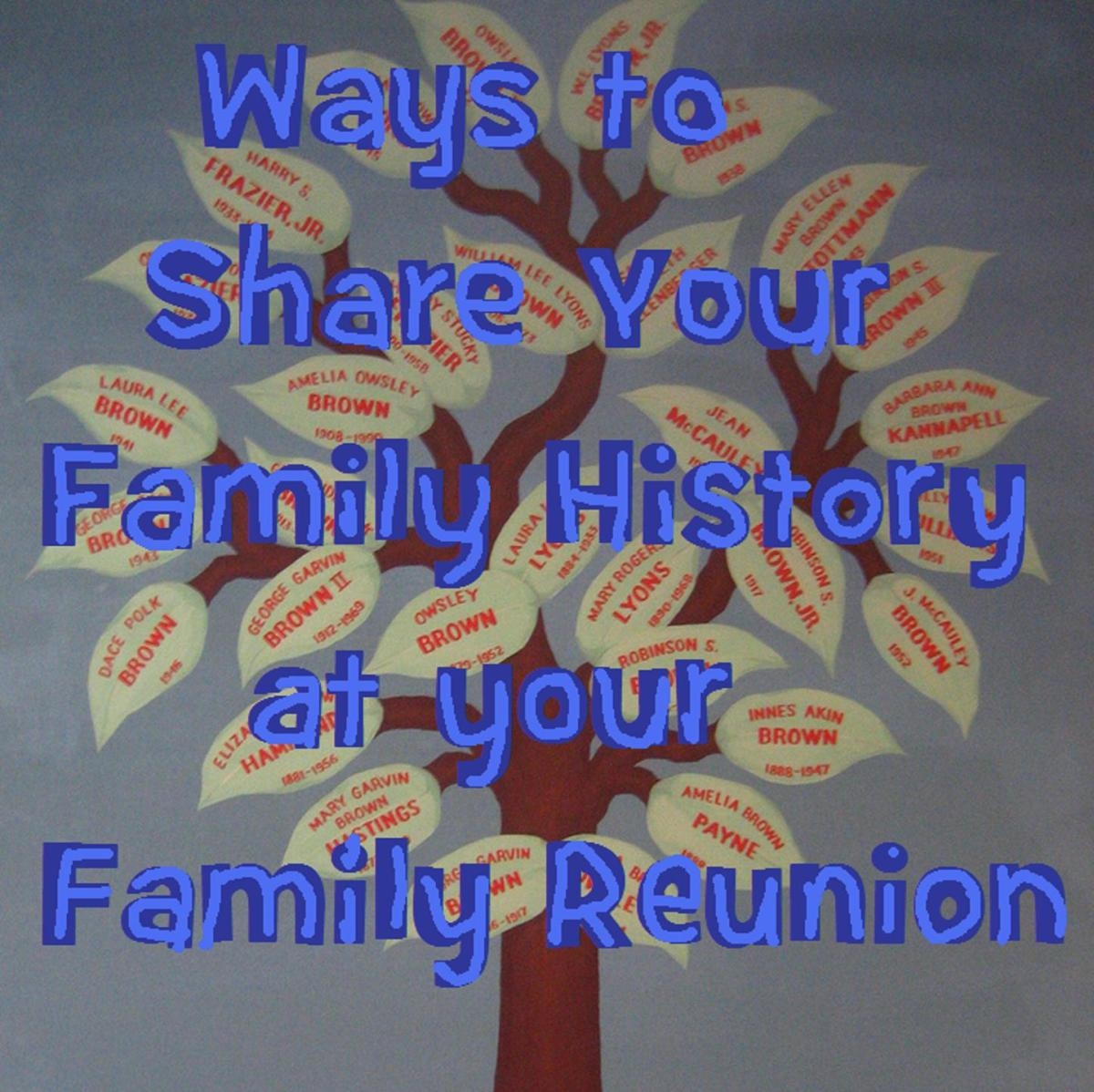 Ten best family history ideas for a family reunion for Christmas gifts to make for family members