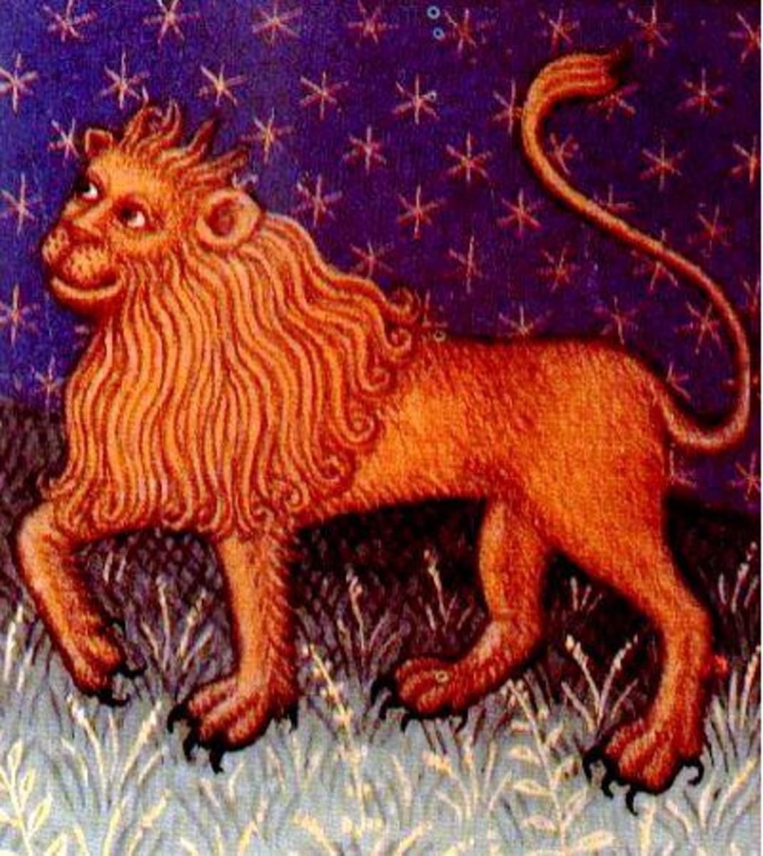 Leo the Lion.  The King of the jungle!  Those men with birthdays in Leo produce humans resembling the lion's appearance a bit, and are usually blonde or red haired.