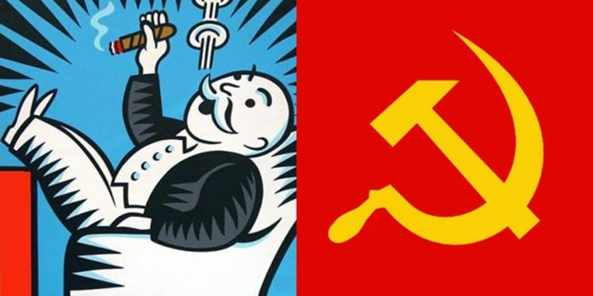 Capitalism vs. communism.