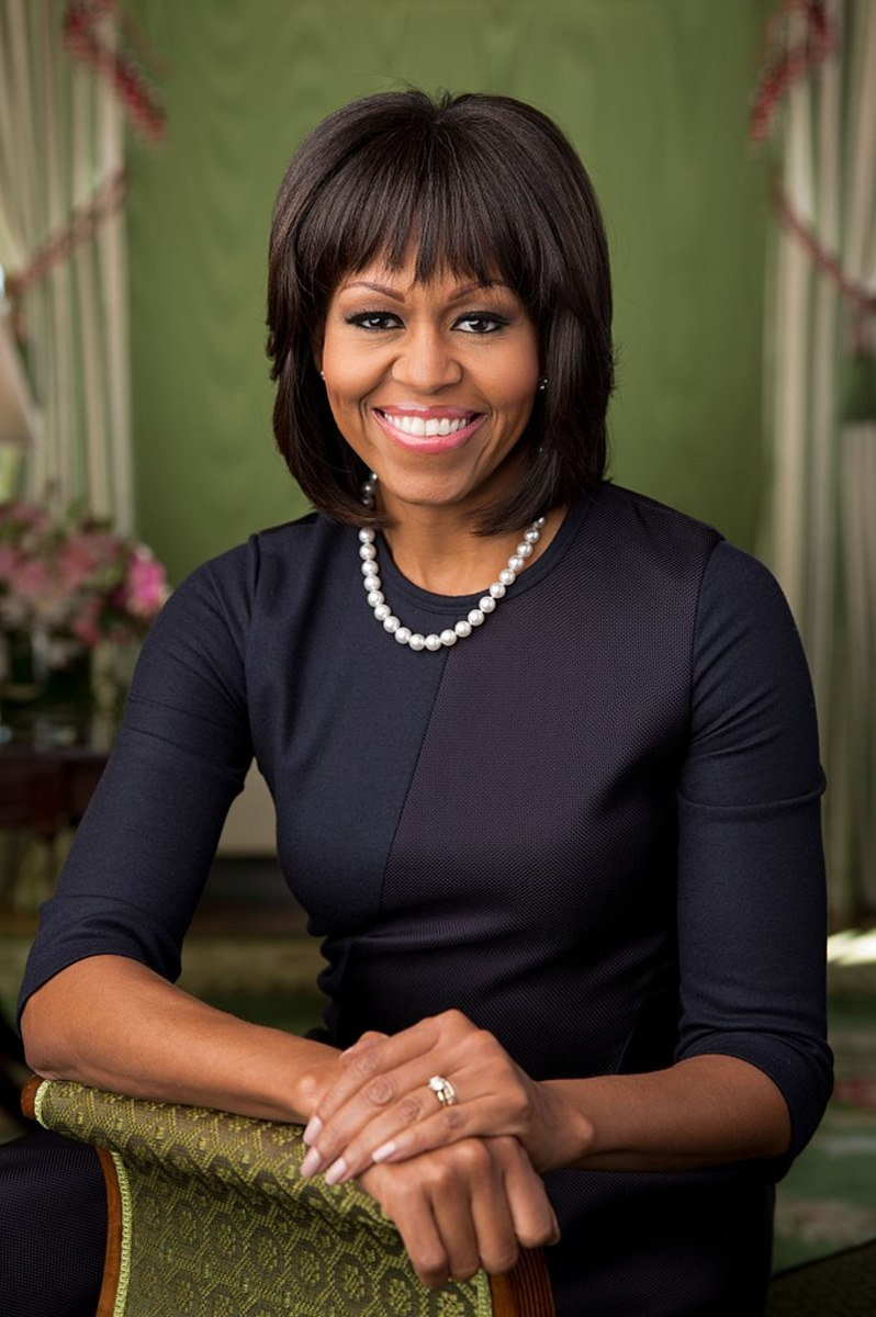 2013 Official Portrait of First Lady Michelle Obama.
