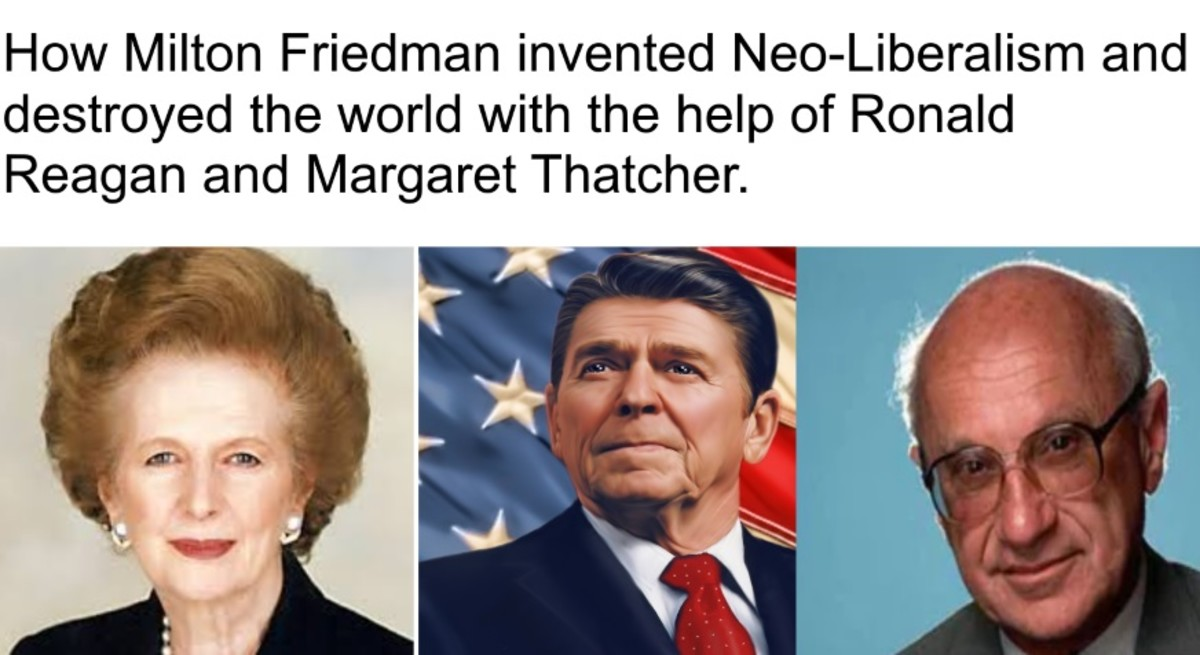 How Milton Friedman's  Neo-Liberalism Destroyed the Economy of the US and the UK.
