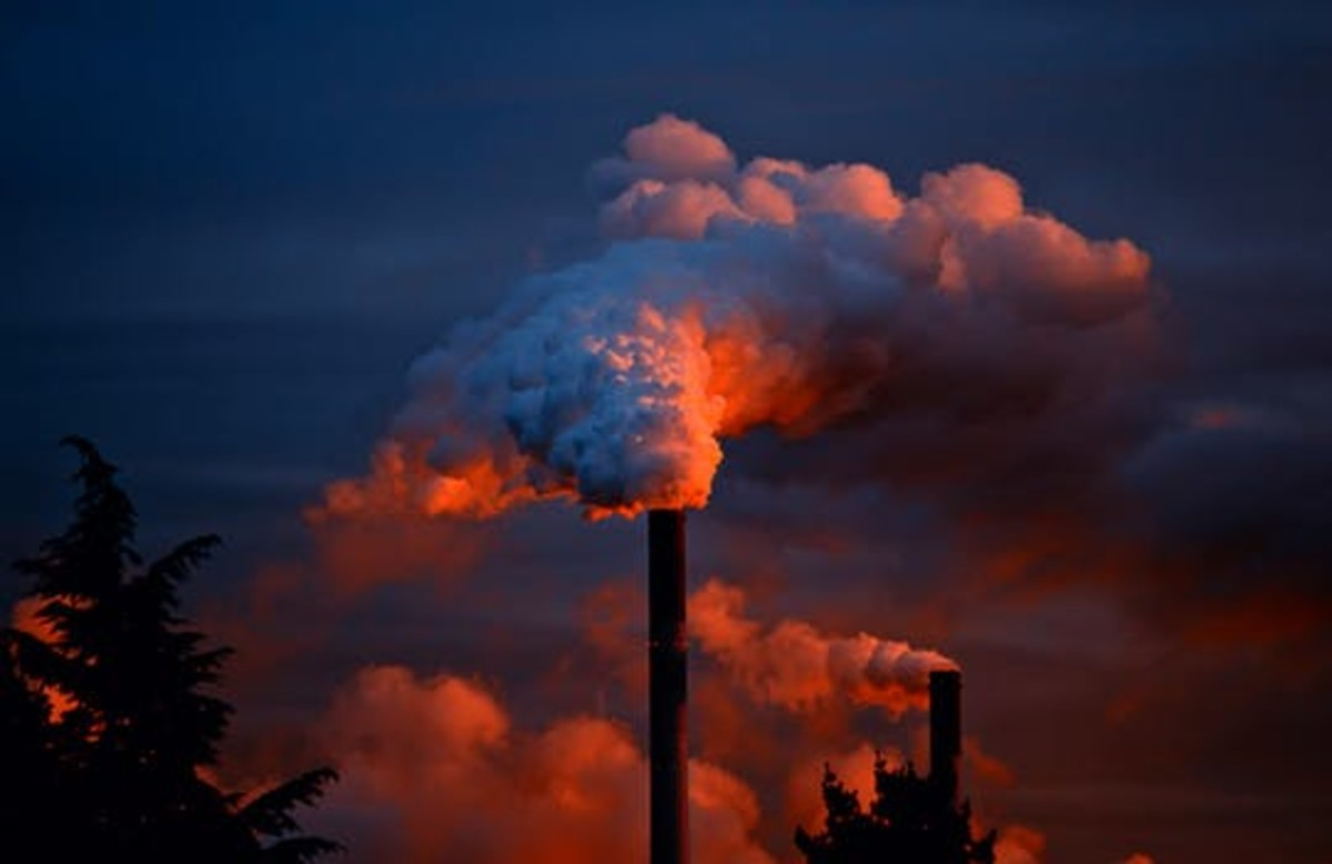 The release of greenhouse gases is polluting the atmosphere and changing the climate.