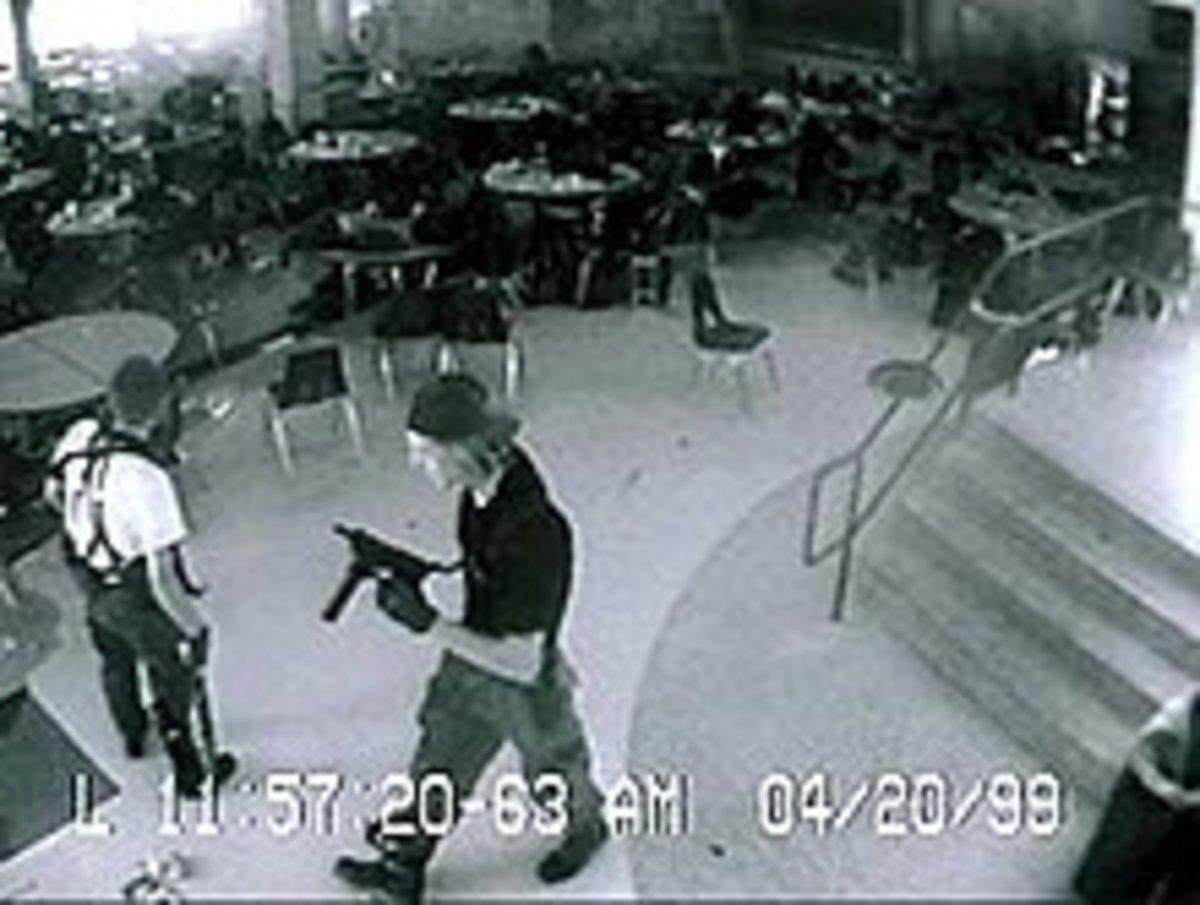 Eric Harris (White T-Shirt) Dylan Klebold (Black T-Shirt)