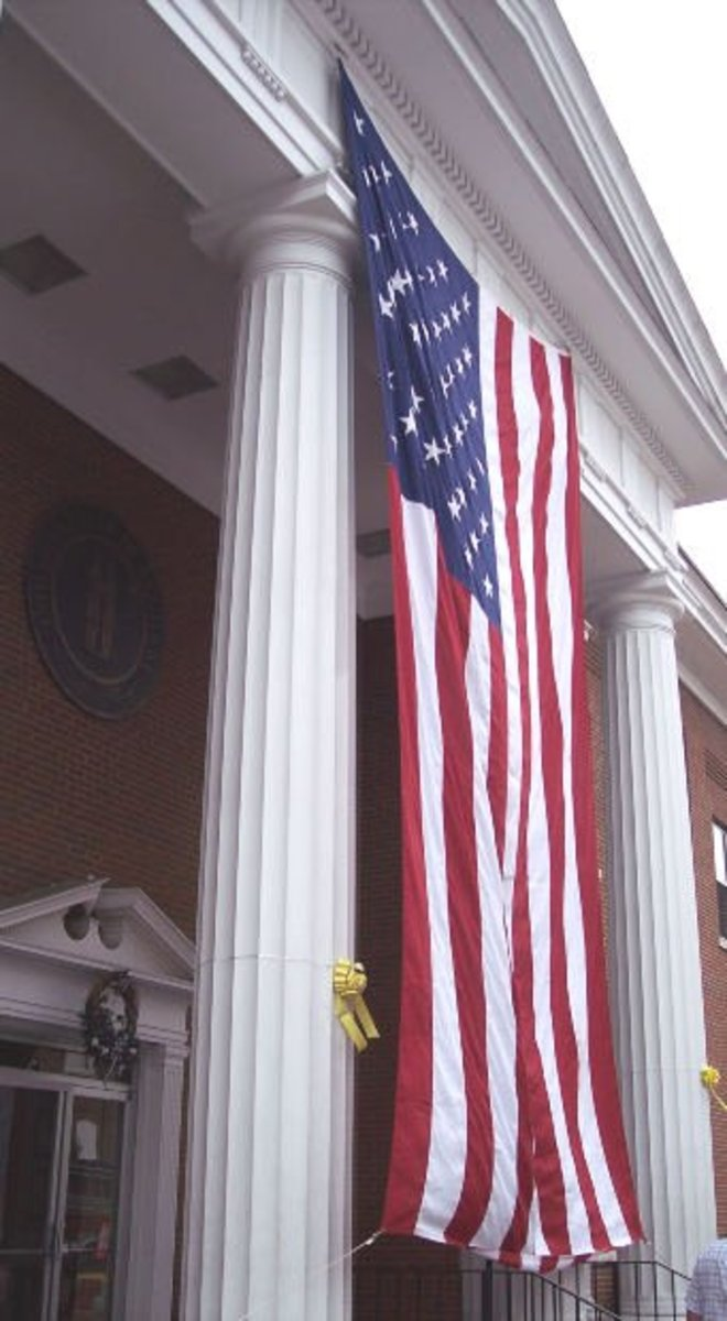 A courthouse flag—flown in a place where you think you may receive justice.