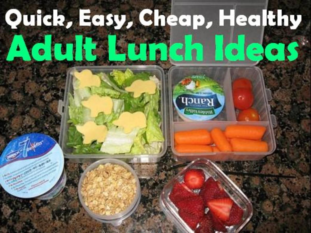 quick easy cheap and healthy lunch ideas for work
