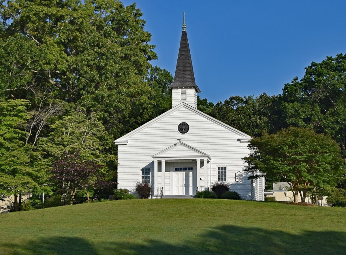 This is what a community church used to look like.