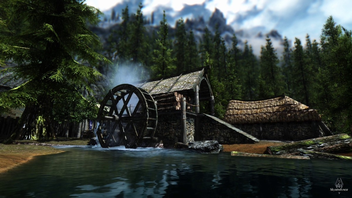 The Elderscrolls V Skyrim with mods installed is a beautiful and vibrant game. This screenshot is courtesy of the RealVision ENB mod page on Skyrim Nexus