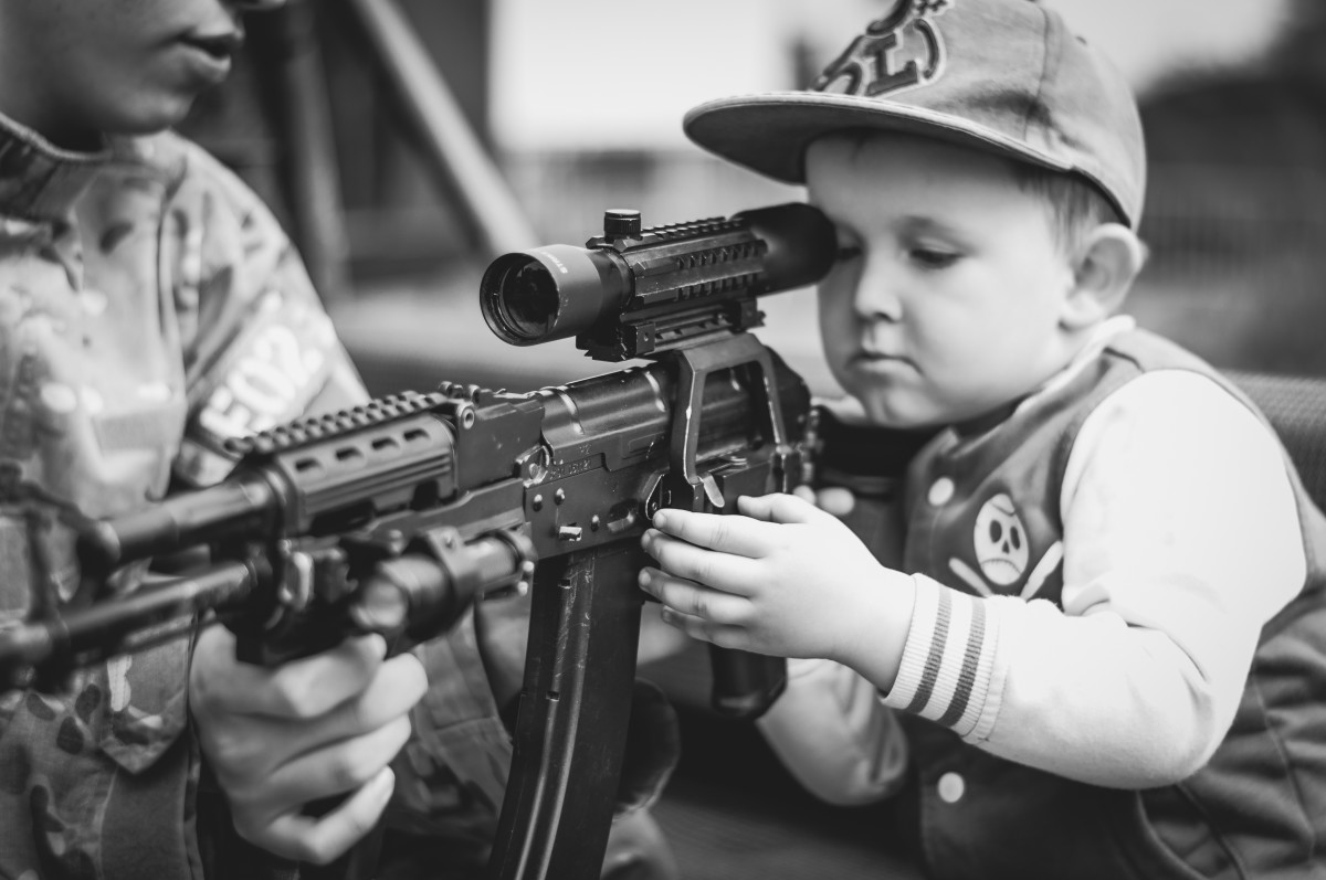 Not me as a kid but it could have been. Especially if that's a BB gun.