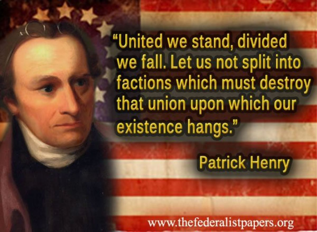 """""""United we stand, divided we fall."""""""