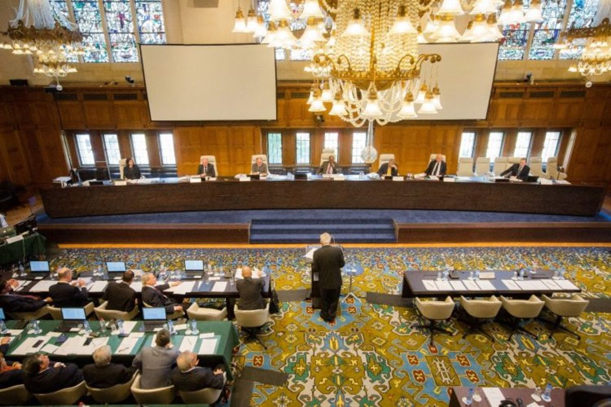 Legal counsels and representatives from the Philippines argue on the tribunal's jurisdiction over the case against China on the South China Sea dispute.