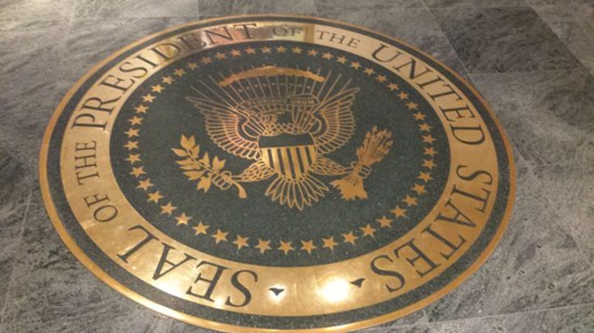 The Presidential Seal at the Reagan Library
