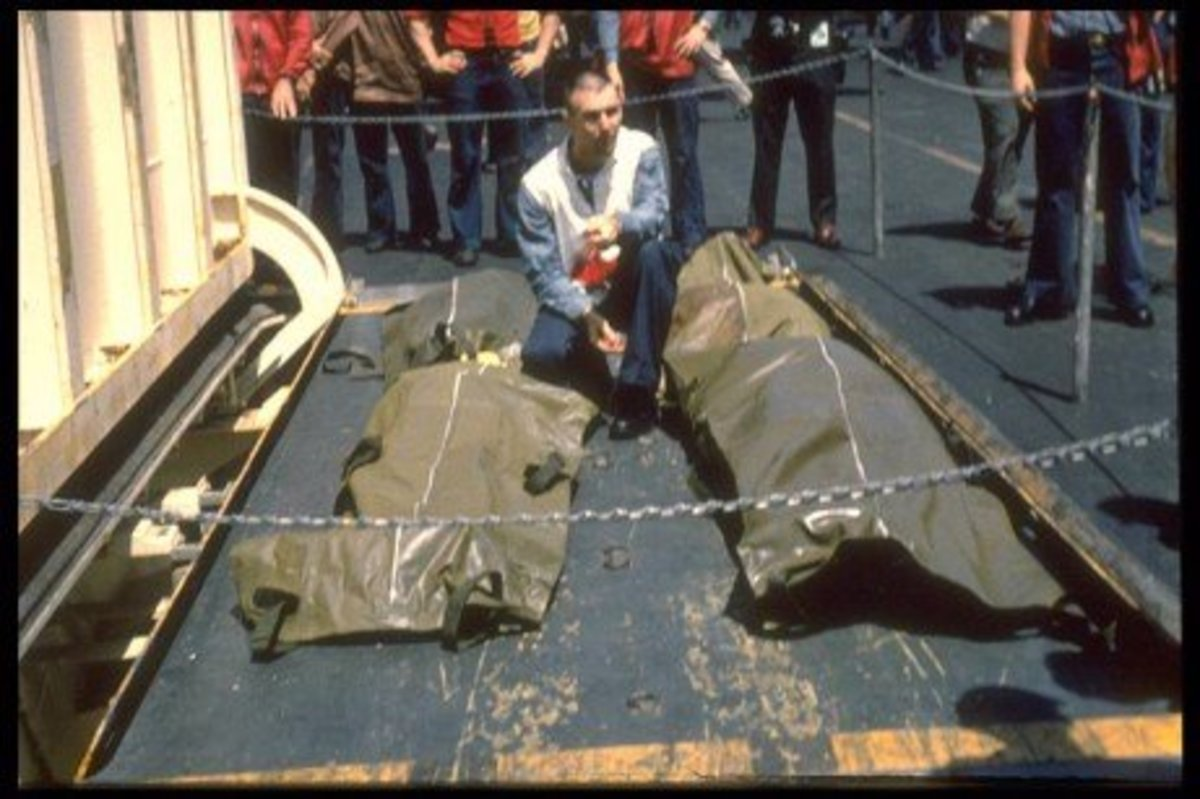 USS Liberty, body bags.