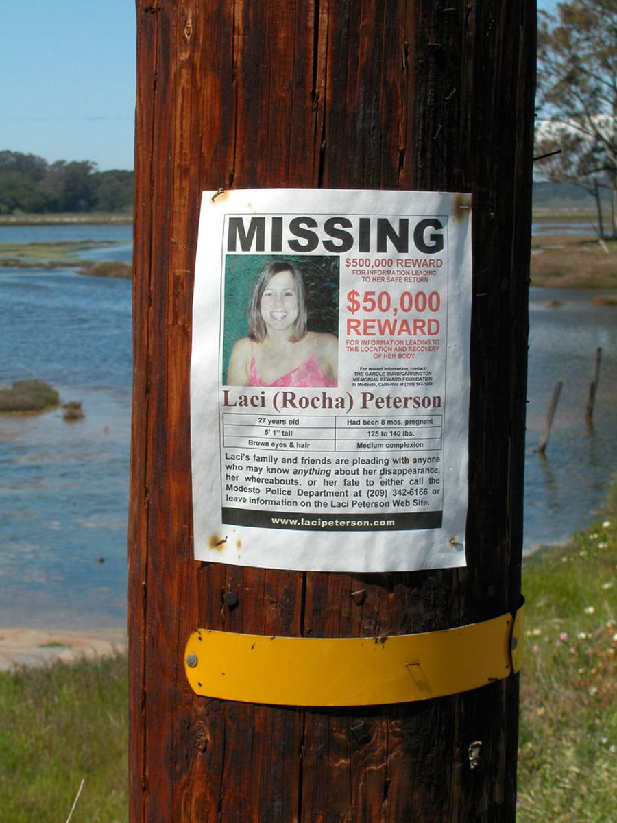 A missing persons poster for Laci Peterson.