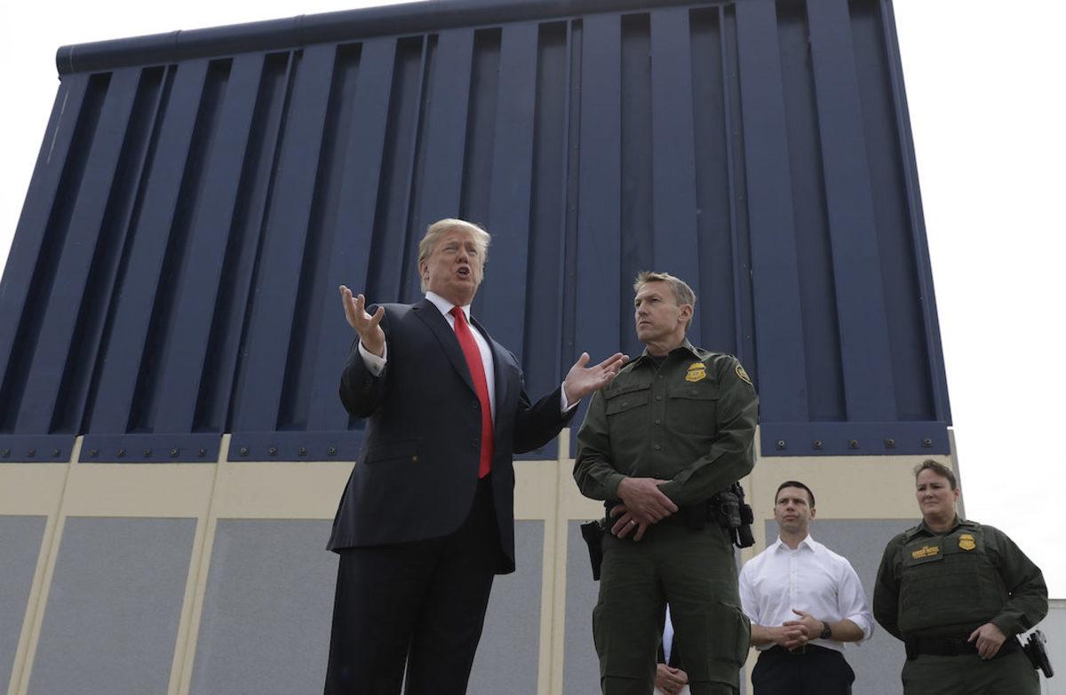 Trump discusses the border.