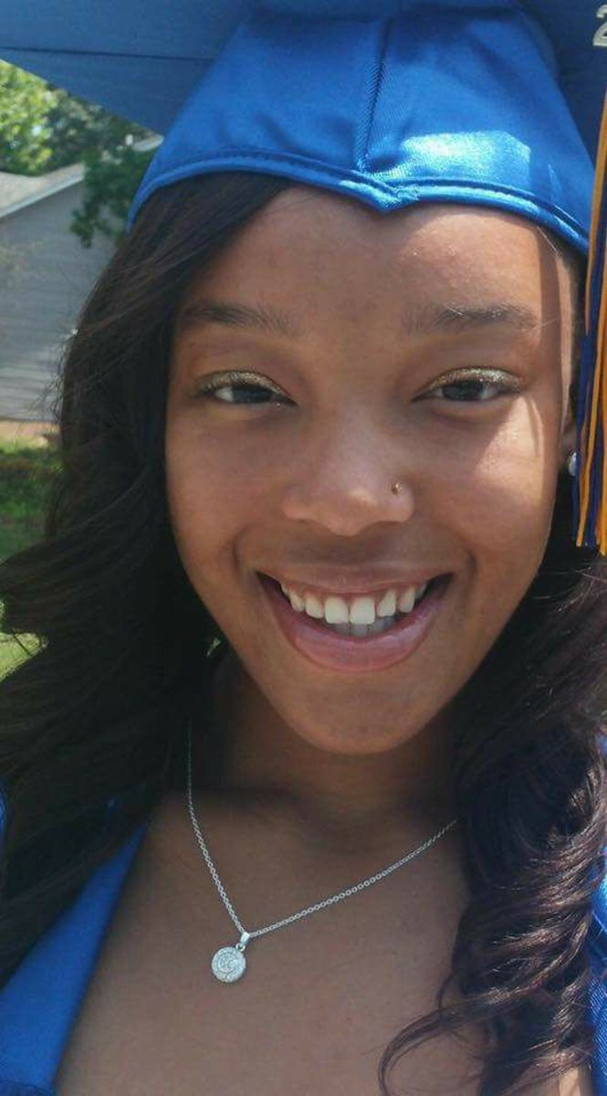 Tyarra's high school graduation photo