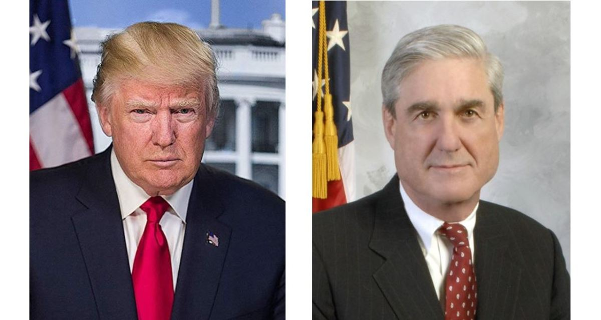 Official Portrait of Donald Trump and Robert Mueller