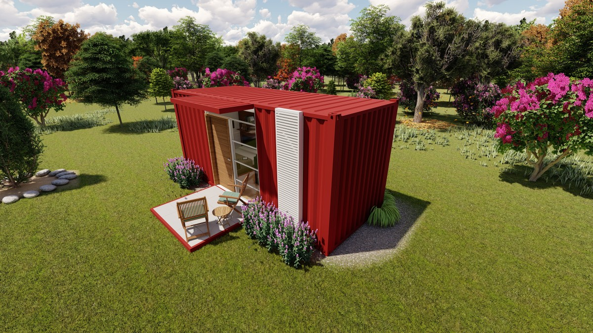 Affordable 20 feet container home