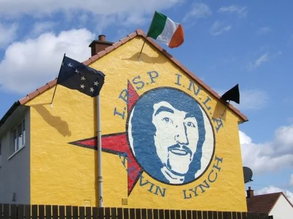 West Belfast mural commemorating Kevin Lynch who died during the H Block Hunger Strike in 1981