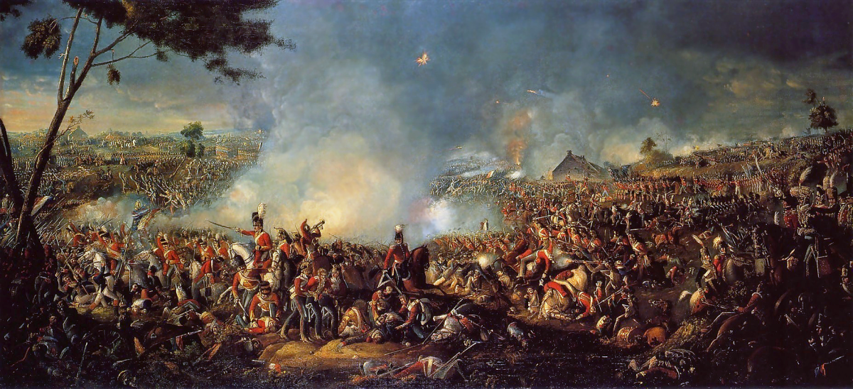 Battle of Waterloo, painting by William Sadler (n.d.). Retrieved from Wikimedia Commons (work in the public domain).