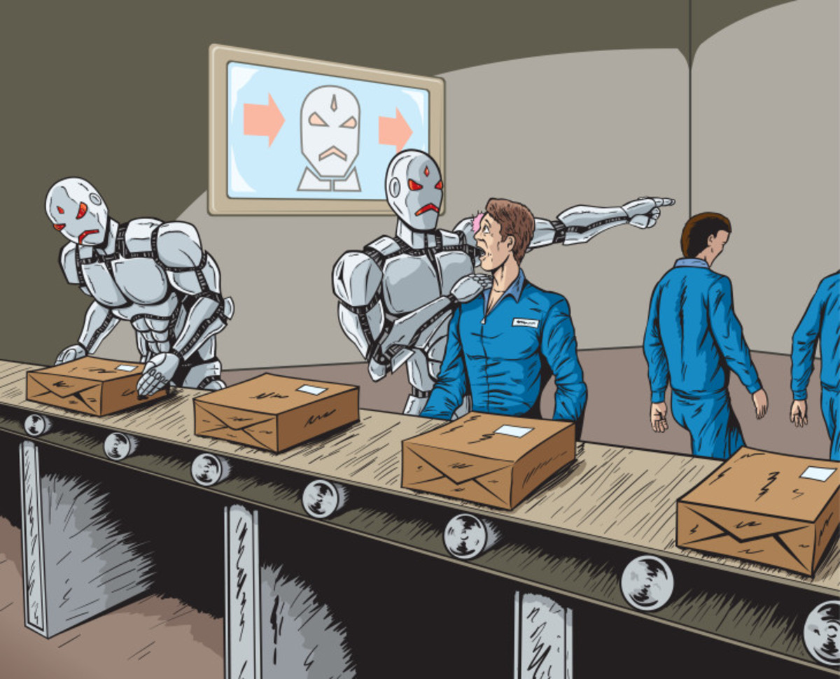 Robots have already taken over millions of jobs that require repetitive movement such as manufacturing and packaging.