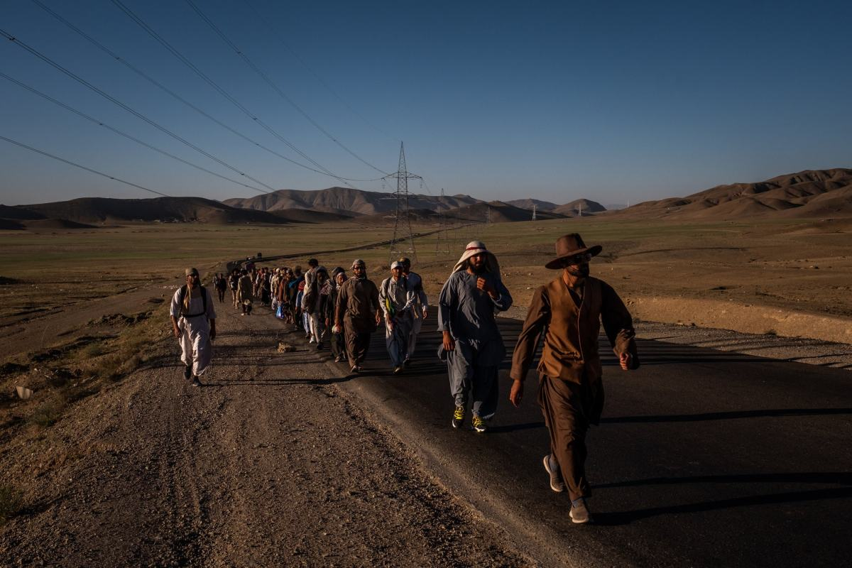 Afghan peace marchers.
