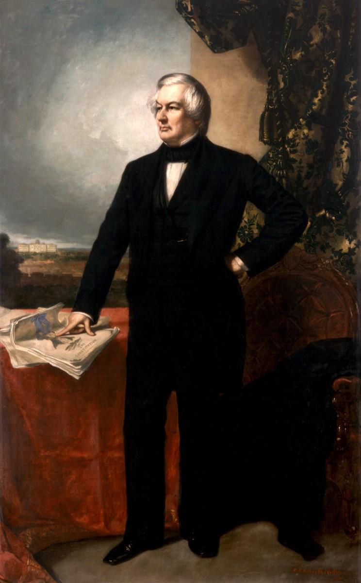 Portrait of Millard Fillmore by George Healy in 1857.