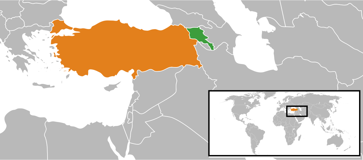 Armenia, the country the Ottoman Empire thought was a threat to the Turkish empire.