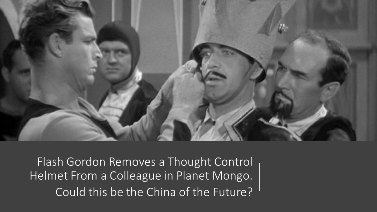 "In the 1930s series Flash Gordon, he removes a ""thought control"" helmet used by Mingo in the Planet Mongo."