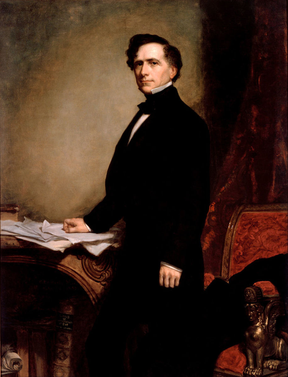 Portrait of Franklin Pierce by G.P.A. Healy in 1858.