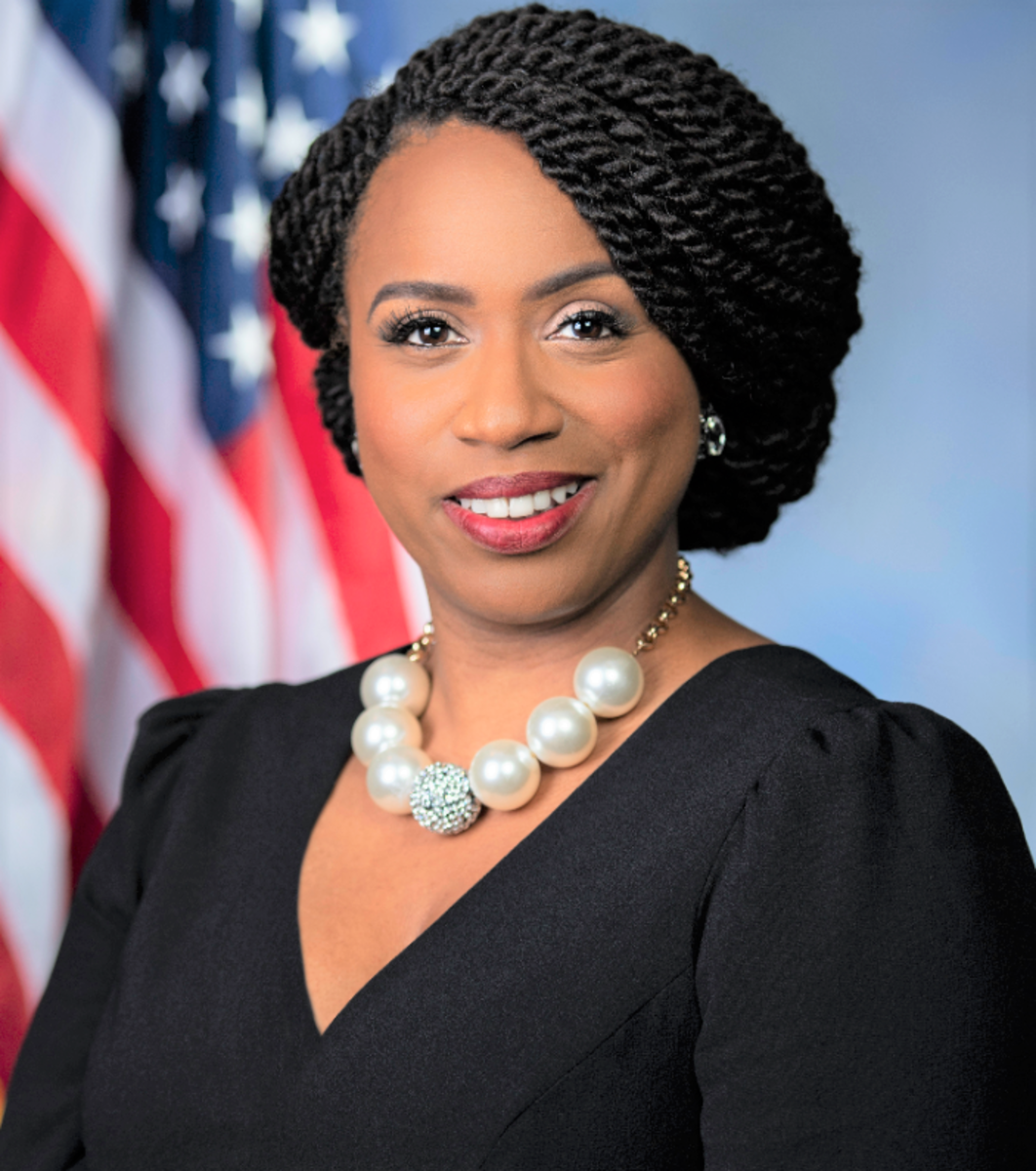 Congresswoman Ayanna Pressley was elected to represent Massachusetts' 7th Congressional District in the U.S.
