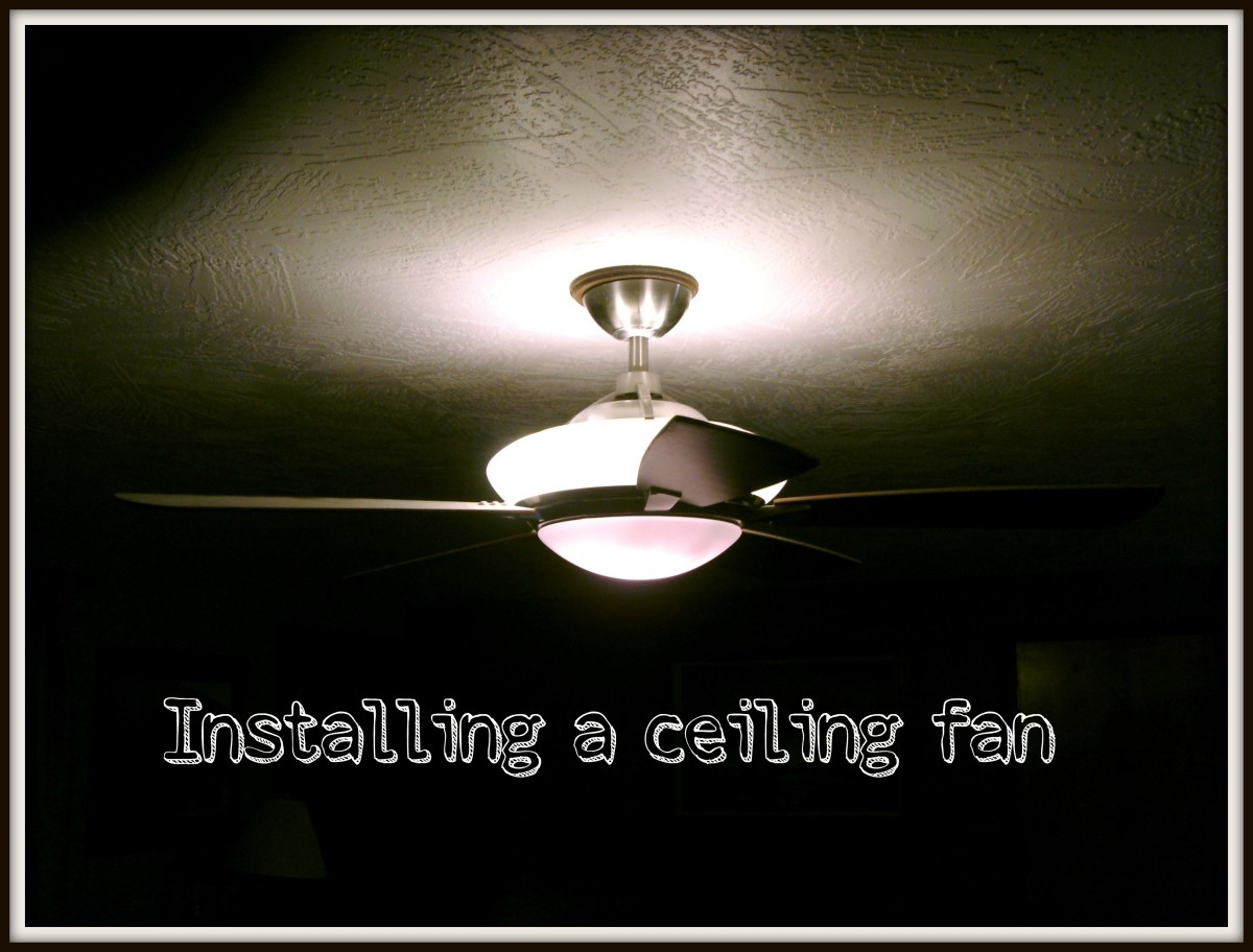 How To Install Or Hang A Ceiling Fan Dengarden Wiring Just Want Light Be Switched