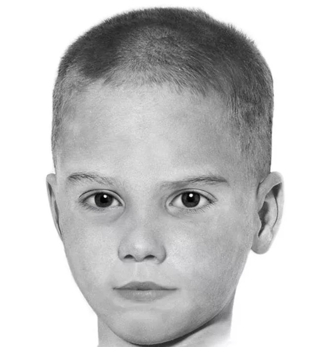 An artist's sketch of the unknown child.